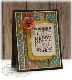 Wishing You Card by Jen Shults (B) #Birthday, #Cardmaking