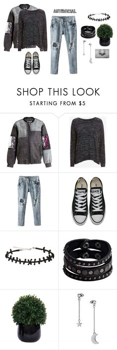 """""""Untitled #499"""" by athinakts on Polyvore featuring Filles à papa, rag & bone/JEAN, Converse, Replay, Lux-Art Silks, Topshop, women's clothing, women's fashion, women and female"""