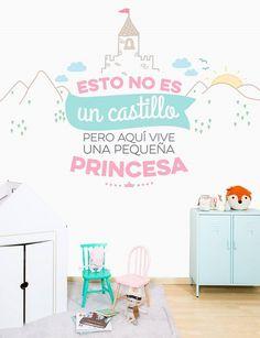 Murales habitaciones niñas diseñados por Mr Wonderful http://www.mamidecora.com/papeles-pintados-infantiles-mr-wonderful.html
