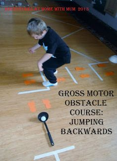 Easy Gross Motor Obstacle Course