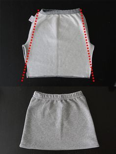 How to make a sweatpant skirt {goodbye old sweats, hello cute skirt!} - It's Alw. - How to make a sweatpant skirt {goodbye old sweats, hello cute skirt!} – It's Always Autumn- - Sewing Hacks, Sewing Tutorials, Sewing Patterns, Sewing Tips, Sewing Projects, Dress Patterns, Hello Cute, Sports Skirts, Rock Design