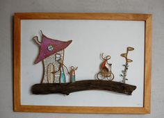 Wire Crafts, Wire Art, Facebook Sign Up, Metallica, Sculptures, Frame, Stained Glass, Couture, Scissors