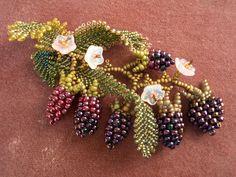 An Oregon Bouquet (Blackberry Brooch) beading kit.
