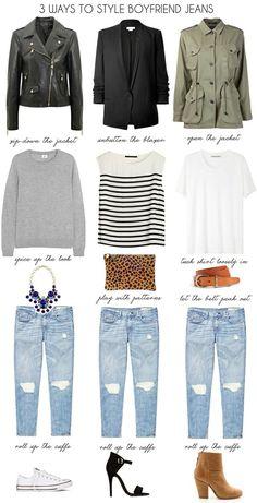 boyfriend jeans: unbutton the jacket