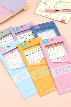 Tiny Sun-Star Haru & Haru Planner Stickers are an adorable way to mark events in your planner. They can even be removed and re-stuck if your plans change.