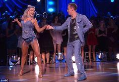 Pro partner: Witney Carson joined Frankie for their samba dance