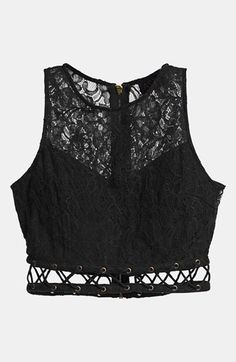 Just ordered this, can't wait for it to arrive!!!- ASTR Lace Crop Top available at #Nordstrom
