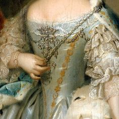"Portrait of Anne, Princess Royal and Princess of Orange"" (1753) (detail) by Johann Valentin Tischbein (1715-1768)."