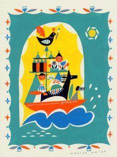 Japanese Illustration, Children's Book Illustration, Paper Cup Design, Animal Posters, Whimsical Art, Bird Art, Japanese Art, Illustrations Posters, Drawings