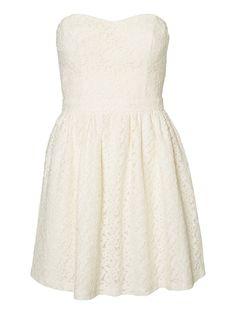 TUBE PARTY DRESS, White Asparagus