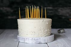 Coconut Cream Birthday Cake