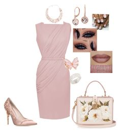 """""""Untitled #107"""" by honugrl on Polyvore featuring Blue Nile, RALPH & RUSSO, Bloomingdale's, Poppy Jewellery, Dolce&Gabbana, Stephen Webster, Power of Makeup and BUFF"""