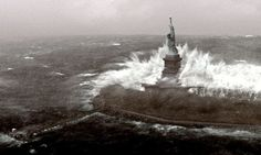 Sydney Opera House and Statue of Liberty 'will be lost to sea level rise' Sea Level Rise, 3c, Photomontage, Heritage Site, Global Warming, Scientists, Climate Change, Statue Of Liberty, Opera House