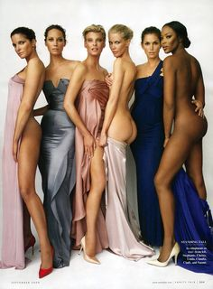Stephanie Seymour, Christy Turlington, Linda Evangelista, Claudia Schiffer, Cindy Crawford  Naomi Campbell Vanity Fair - September 2008 Photographer - Mario Testino
