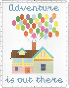 Up! - Adventure is out there cross-stitch pattern                                                                                                                                                                                 More