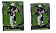 2015 Topps Chrome #105 Melvin Gordon RC Lot(2) Full & Mini Rookie Chargers  | eBay