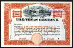 NumisBids: Archives International Auctions Auction 27, Lot 741 : Texas Company (TEXACO Precursor Company), 19xx (ca.1900-1910)...