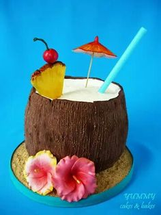Coconut cocktail cake...perfect for a Laua