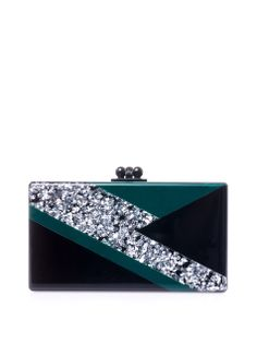 Edie Parker's high-shine designs pack a serious punch, and this Jean Ziggy box clutch is no exception. Carry yours to give simple evening looks a charismatic edge, checking your make-up in the mirrored lining en route