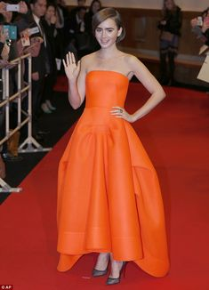 Here she is: Lily Collins stole the show at the Japanese premiere of her new movie Love, R...