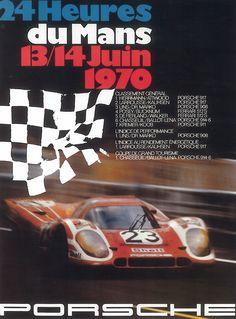 Le Mans Porsche poster 1970