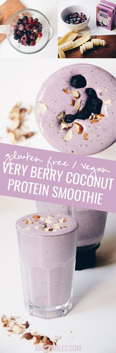 This creamy coconut smoothie full of berries makes the perfect tasty post-workout smoothie.