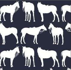 Polo Ponies Silhouette Pillow