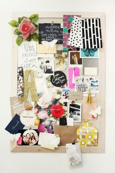 cute vision board. It would be nice to make one for college or of my favorite things or just make one and see what happens!