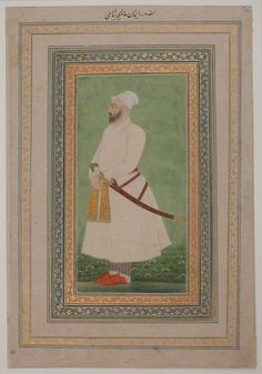 Portrait of Allahwerdi Khan Object Name: Album leaf Date: 17th century Geography: India