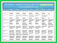 Example Hammer and Chisel Meal Plan G