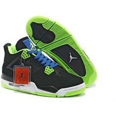 competitive price 6bef0 71e3a New Nike Air Jordan IV Mens Shoes in Black Blue and Green, cheap Jordan If  you want to look New Nike Air Jordan IV Mens Shoes in Black Blue and Green,  ...