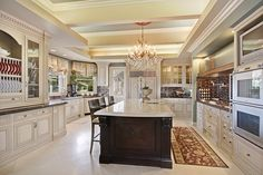 Beautiful... This kitchen would be big enough!!!