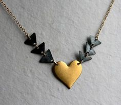 Heart and Triangles by Rachel Pfeffer Designs