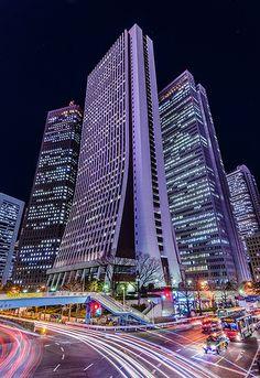 Towering skyscrapers in Shinjuku, Tokyo Japan