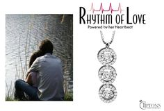 Express your love to her with this Triple-Round Shaped Pendant with 1ctw set in 14K White Gold by Rhythm of Love
