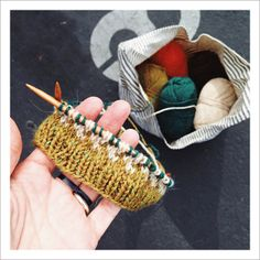 three color knitting