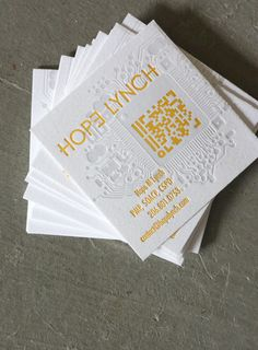 Business cards with QR codes. Sweet!