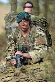 Royal Marine Commandos on Exercise in British Woodland by Defence Images