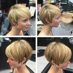 13.Short Hairstyle for Thick Straight Hair
