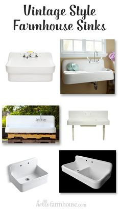 Find out where to get beautiful vintage style farmhouse sinks