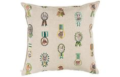 Champs 20x20 Pillow, Linen  Coral and Tusk