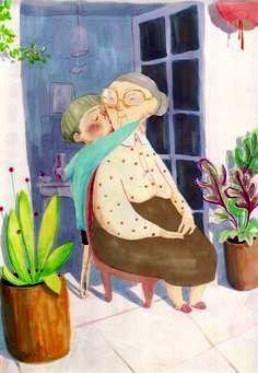 Hugs For Grandma ~ Simona Ciraolo