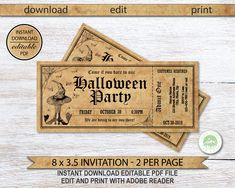 Excited to share the latest addition to my shop: Halloween Party Invitation, Printable Halloween Ticket Invitation, Witch Halloween Invite, Editable Invitation, Halloween Party # Printable Tickets, Printable Invitations, Print Your Own Invitations, Halloween Party Invitations, Ticket Invitation, Paper Goods, Etsy Shop