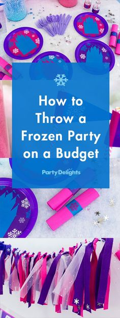 Get all the tips, tricks and party ideas you need to throw a Frozen birthday party on a budget! Includes amazing free printables.