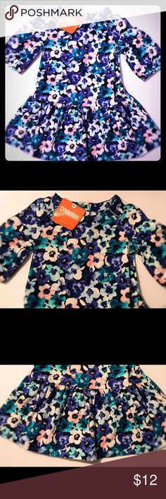 """NWT Gymboree Sapphire Garden Floral Dress **brand New with tags Baby Girl Gymboree Long Sleeved sapphire garden Floral Dress from the Gymboree Fall 2016 """"Butterfly garden"""" Line! Size: 6-12 Months Gymboree Dresses Casual"""