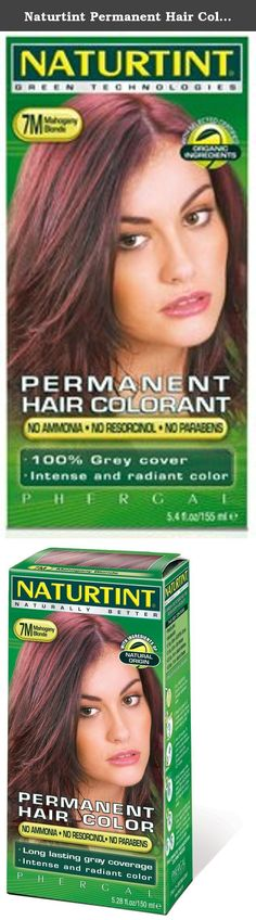 Naturtint Permanent Hair Color - 7M Mahogany Blonde, 5.28 fl oz (6-pack). Naturtint® is the first permanent hair color, free of harsh chemicals, that provides both beautiful, radiant color and is healthy for your hair! Combining natural activators that nourish your hair and micro-pigments that provide a more intense color, Naturtint even covers gray completely in one application, while restoring softness, shine and vitality. Naturtint is available in 29 mixable shades, and each package...
