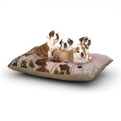 "Marianna Tankelevich ""Lotus Dream"" Flower Pink Dog Bed  KESS INHOUSE"