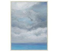 Summer Storm at Sea Wall Art #potterybarn #artbytriciastrickfaden #availnow