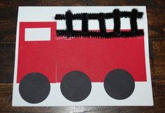 cute firetruck craft. Community Helpers unit!