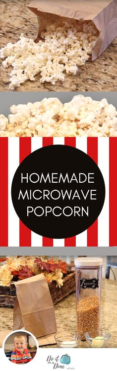 EASY & CHEAP SNACK! DIY Microwave Popcorn Bags
